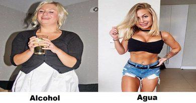 cuanto afecta el alcohol al peso