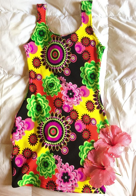 Tortuga vestido verano tela sofía corte ajustado